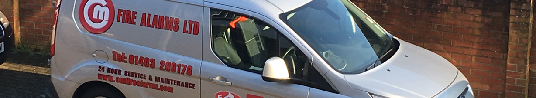 C&M Fire Alarms Vehicle
