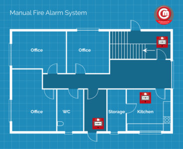 Example Floor Plan for Manual Alarm System